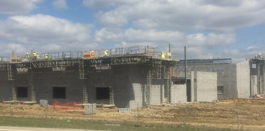 Another view of Southwest Licking Schools construction fronting Ohio 40.