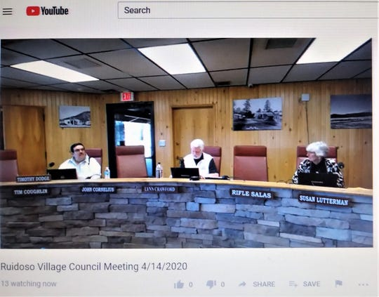 This was the view of the meeting from You Tube Tuesday.