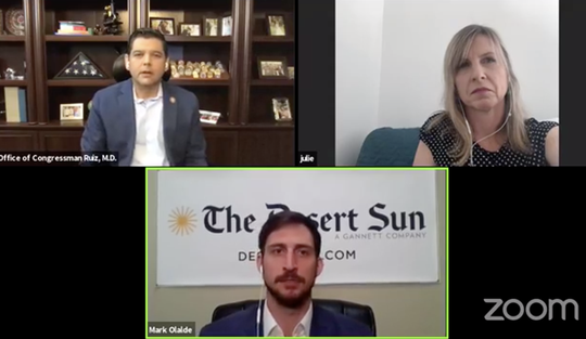 Desert Sun readers submitted questions for Rep. Raul Ruiz, D-Palm Desert for a Q&A aired live on Facebook.