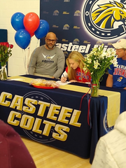 Queen Creek Casteel girls track and field runner Taylor Starkey signs Letter Of Intent to commit to Kansas