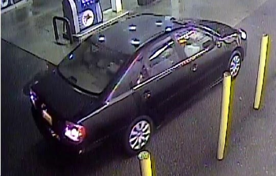 Surveillance footage from an alleged robbery at Mobil Gas Station on the intersection of Route 9 and Route 9G in the Town of Rhinebeck.
