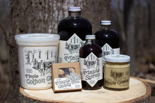 Maple products for sale at Genesee CountryVillage and Museum.