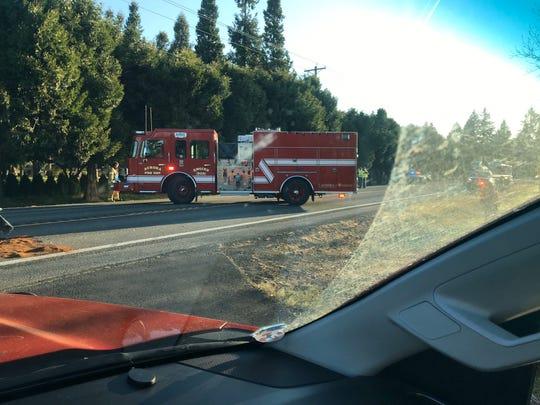 Crash closes Ehlen Road NE near Aurora.