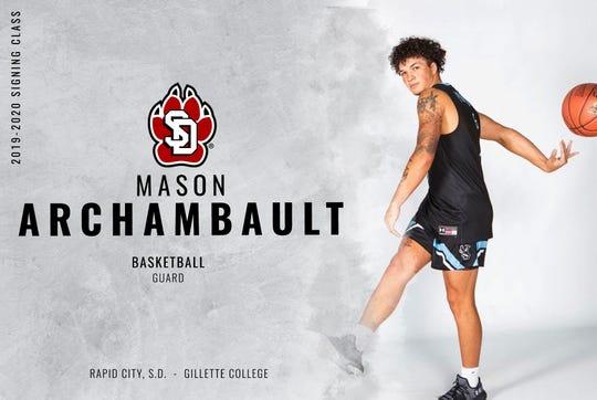 Rapid City alum Mason Archambault will transfer to South Dakota from Gillette College.