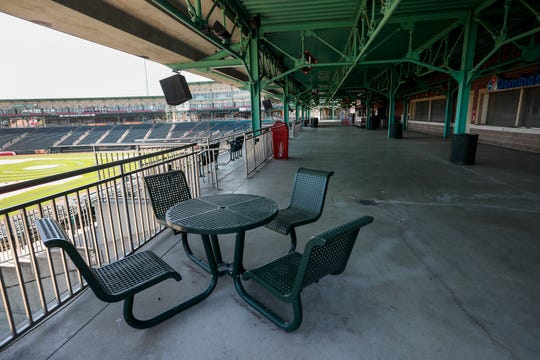 There were no fans walking down the concourse on what would have been the Springfield Cardinals' home opener at Hammons Field on Thursday, April 16, 2020.