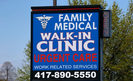 The Family Walk-In Medical Clinic on South Campbell Avenue on Thursday, April 16, 2020.