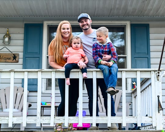 Jessie and Mitch Sprouse with their children were part of The Front Steps Project photos taken by Tiffany Hanlon.
