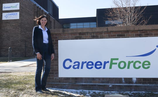 Joan Berning, Field Operations Regional Manager for the Minnesota Department of Employment and Economic Development, which operates CareerForce, poses for a photo Thursday, April 16, 2020, in St. Cloud. She said the novel coronavirus has changed how job-seekers access CareerForce's services.