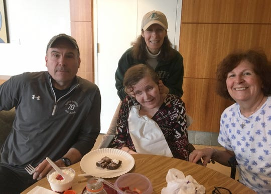 Left to right: John Barry, Maureen Barry (lady in the  tan hat), Patricia Marie Barry, Denise Eileen Taylor. They are siblings of Patricia Marie Barry, who died at the Hebrew Home of Riverdale in the Bronx