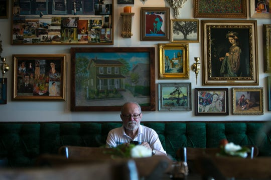 Before the coronavirus, customers like John Siegfried could enjoy coffee at a table at Brew Ha Ha's 3,000-square-foot space in Greenville in the Powder Mill Square Shopping Center. Now, the cafe is open only for takeout.