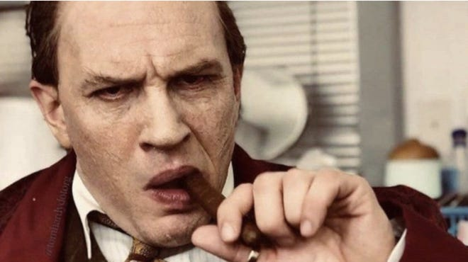 """Tom Hardy plays Al Capone in """"Capone,"""" which dropped its first trailer Wednesday."""