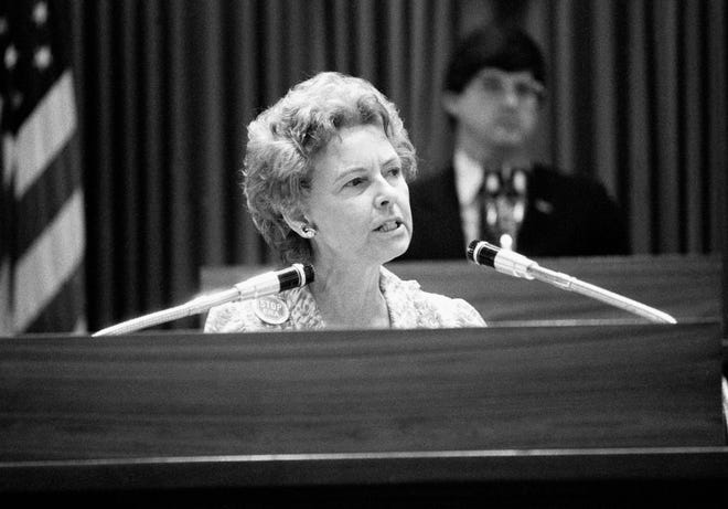 Phyllis Schlafly on June 8, 1982.