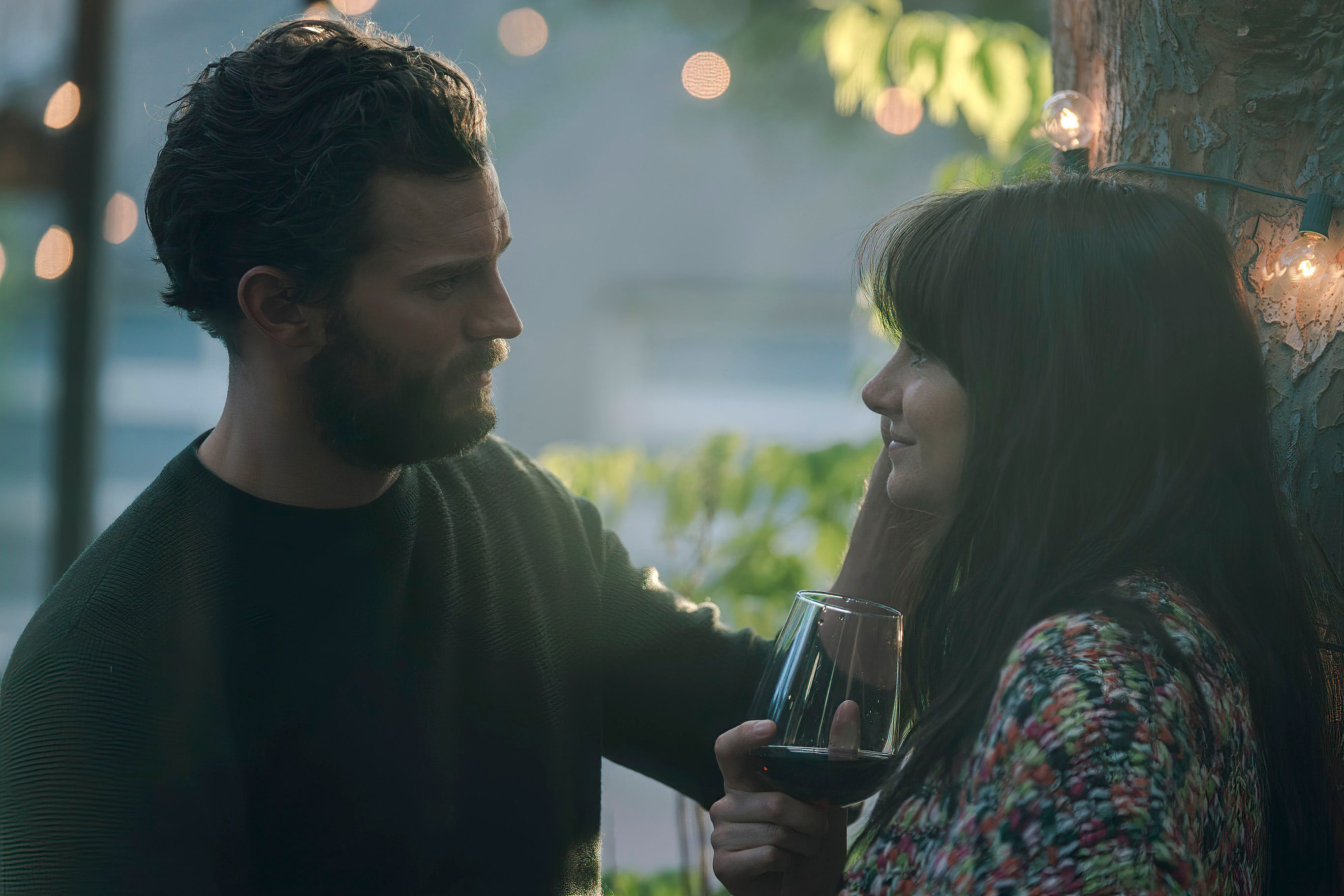 "Jamie Dornan and Shailene Woodley comprise two-thirds of the love triangle in ""Endings, Beginnings."""