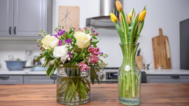 Send a flower arrangement to mom.