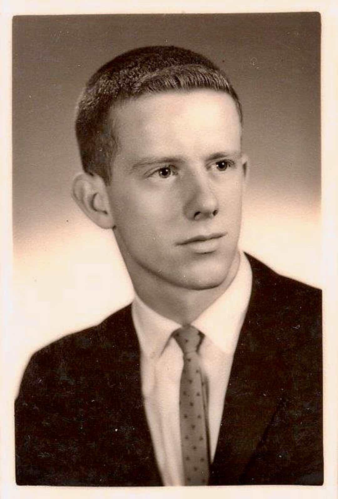 Donald Adair as a young man. He died April 6, 2020