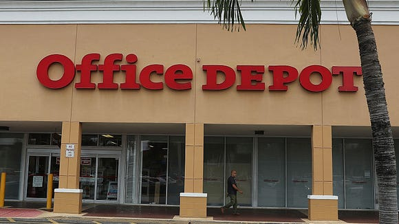 You can find hand sanitizer and other essential items at Office Depot.