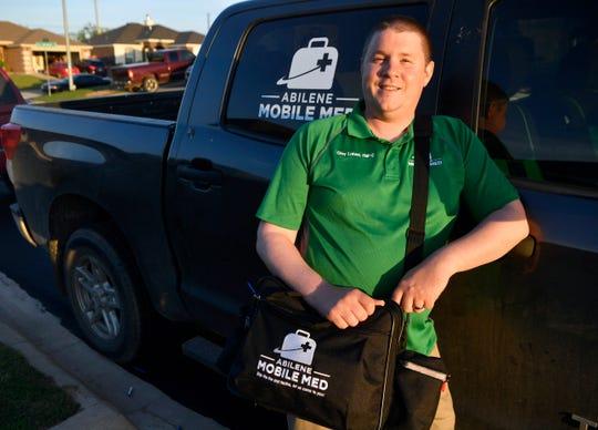 Nurse practitioner Clay Lohse of Abilene Mobile Med.