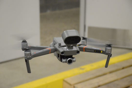 One of three Mavic 2 Enterprise drones provided to the Battle Creek Police Department.  Trace Christenson/The Enquirer