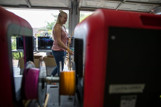 Alexis Kadonsky, a graphic artist and web designer in Corpus Christi, TX, is printing 3D masks and face shields for first responders across the United States. She has a group of people with 3D printers in Corpus Christi helping out.