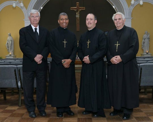From left to right: Brother Ronald Carins, S.C., Brother Gary Humes, S.C., Brother Michael Migacz, S.C., Brother Rich Leven, S.C.