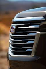 The 2021 Escalade is all new with a more subtle, horizontal grille and design.