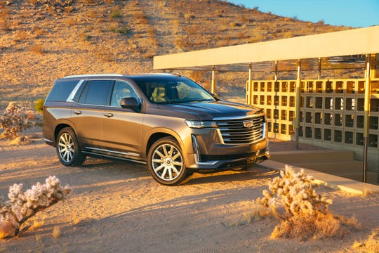 The 2021 Cadillac Escalade starts at $77,490. The extended size model is $3000 above that.