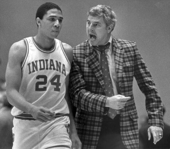 Legendary college basketball coach Bobby Knight was known for his winning and his temper.