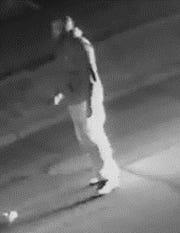 A surveillance camera captured the suspect at the scene.
