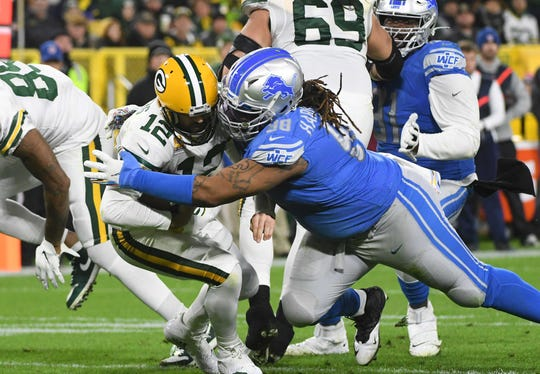 Defensive tackle Damon Harrison spent two seasons with the Lions before he was released in February.