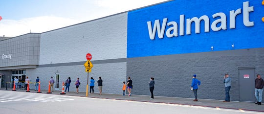 Walmart reports that online sales surged 74% in the first quarter.