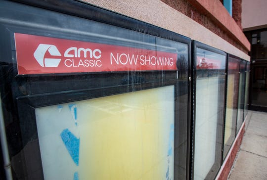The AMC movie theater in the Great Falls Marketplace remains closed due to the coronavirus shutdown.
