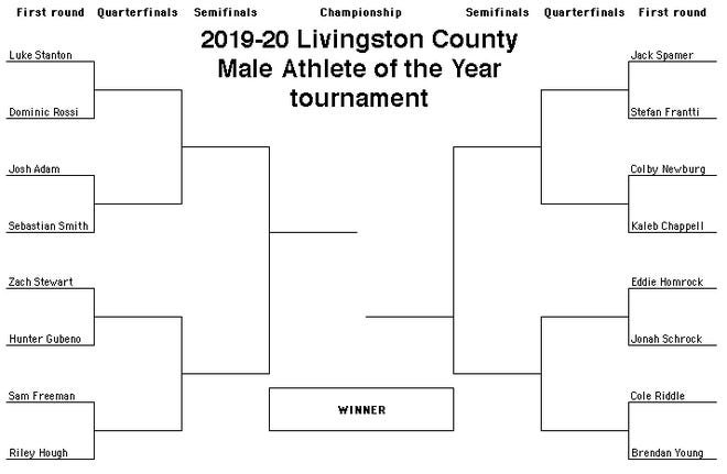 2019-20 Livingston County Male Athlete of the Year bracket