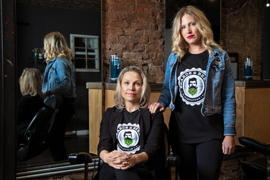 Melissa Gray, runs Beards and Beers, a barbershop in downtown Louisville and her daughter, Catherine Gray, was in the process of opening a second location in her grandfather's barbershop in Elizabethtown when COVID-19 shut the doors to their businesses.