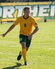 Brandon DeSmyter, shown here playing for Northern Michigan, will play for the Michigan State men's soccer team in 2020. He is a DeWitt graduate.