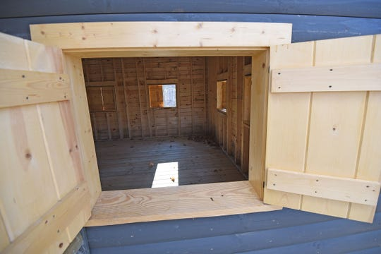 Two new cabins will give campers a place to change for swimming and store belongings during the day.