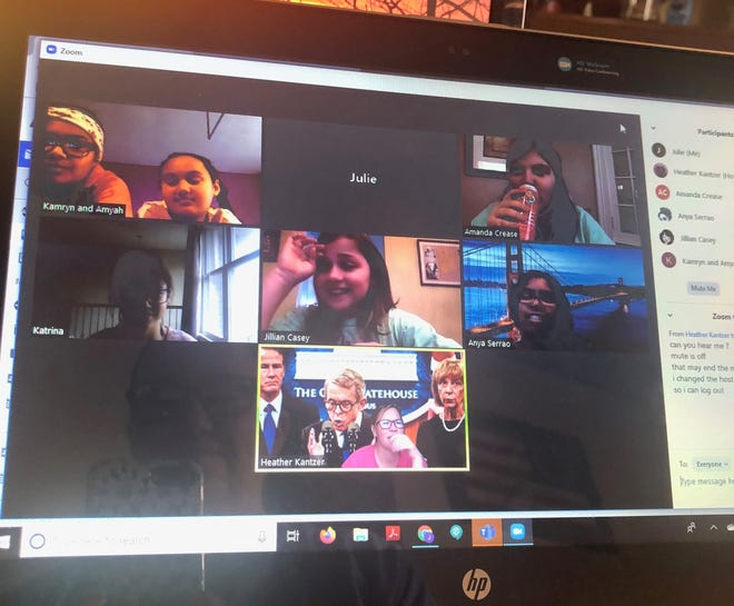 Members of the Kreative Kids 4-H Club hold a meeting using Zoom. 4-H clubs and FFA Chapters in Marion County have made use of technology to hold virtual meetings since the coronavirus pandemic hit Ohio, according to local leaders.