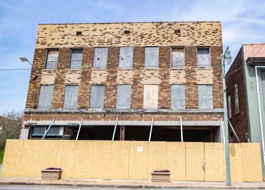 South of Beale future location is under construction on South Main Street in Memphis, Tenn., on Friday, April 17, 2020. The owner plans to move forward with expansion plans in the midst of COVID-19 pandemic.