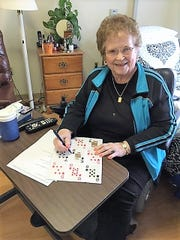 With restrictions in place due to the coronavirus pandemic, Maxine Aarestad, a resident at Shorehaven in Oconomowoc, said she's been reading more.