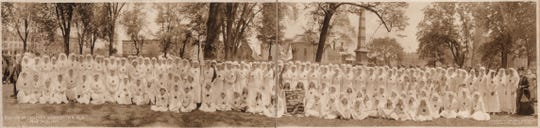Morristown Chapter Red Cross nurses on the frontlines of the Spanish flu, an epidemic that hit Morris County in 1918. This picture comes from North Jersey History and Genealogy Center's Collection.