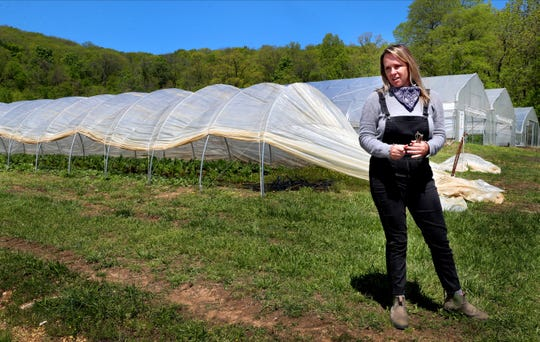 Lauren Palmer, the owner of Bloomsbury Farm, talks about her organic farm in Smyrna and how COVID-19 has affected her business on Wednesday, April 15, 2020.