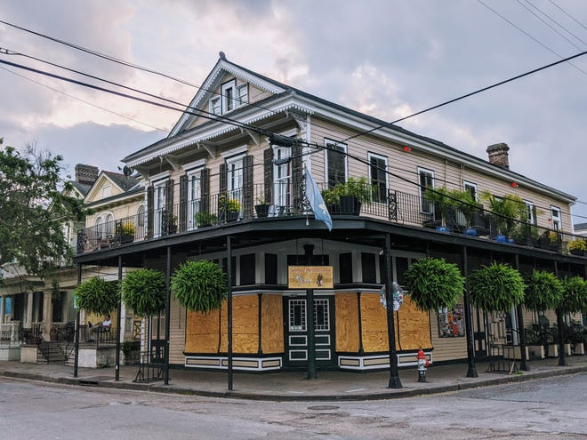Bars in New Orleans such as R Bar, pictured here, are shuttered as if it's hurricane season due to the ongoing spread of the novel coronavirus.