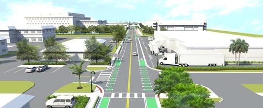A rendering of improvements to Eighth Street in Naples near Wynn's Market.