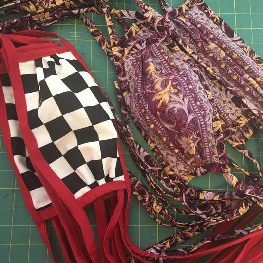 Face masks sewed by Robert Young
