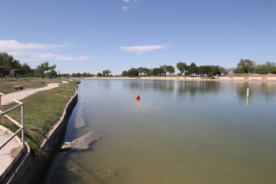Lake Carlsbad is refilled after maintenance work, April 17, 2020 at Lake Carlsbad Beach Park.