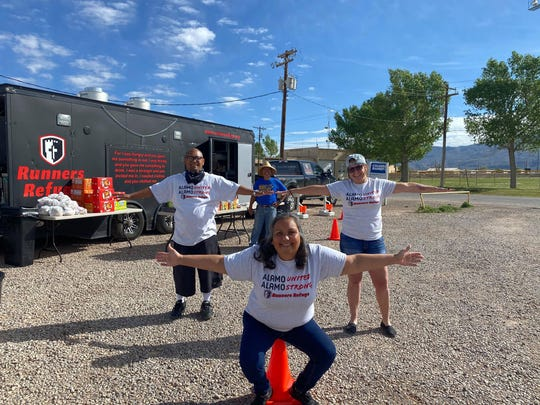 Volunteers with Runner's Refuge have helped feed many Otero County residents the last couple of months in the time of the COVID-19 coronavirus pandemic. Courtesy photo.