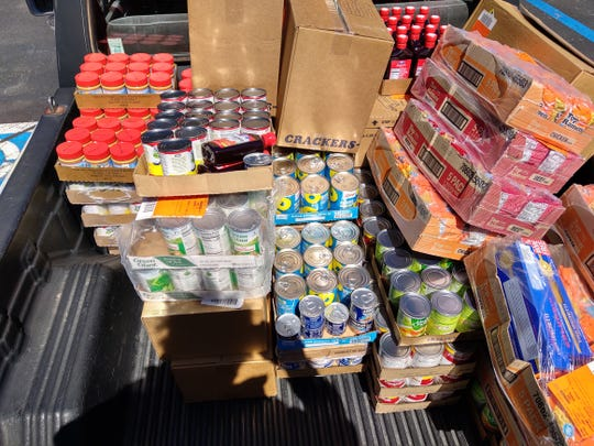 Generous donations helped to replenish the Food Bank shelves that provided those in need with supplies during the COVID-19 pandemic.