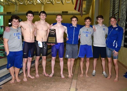 The Catholic Central swim seniors.