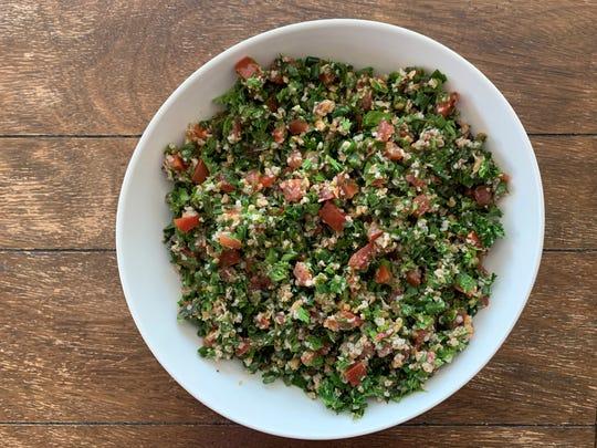 Tabbouleh, parsley salad, prepared by Tammy Krikorian Gabel in Mesa.