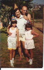 Tammy Krikorian Gabel as a child with her grandmother Alice Krikorian, uncle Mickey Krikorian and sister Marina Krikorian.