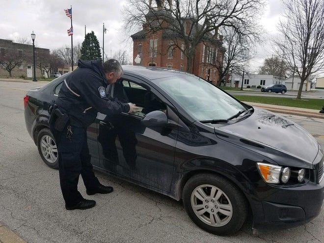 U.S. Customs and Border Protection officers having been helping deliver meals to local seniors in Ottawa County during the pandemic.